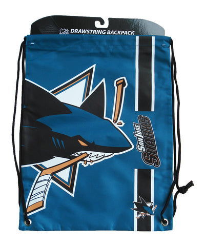 SAN JOSE SHARKS DRAWSTRING LOGO BAG