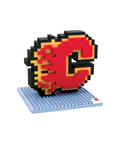3D BRXLZ CALGARY FLAMES BUILDABLE TEAM LOGO