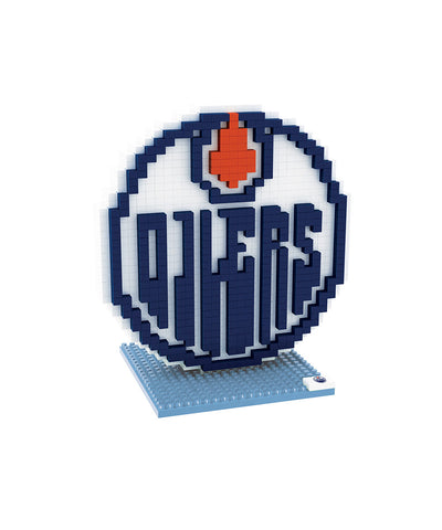 3D BRXLZ EDMONTON OILERS BUILDABLE TEAM LOGO