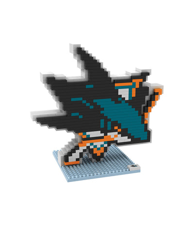 3D BRXLZ SAN JOSE SHARKS BUILDABLE TEAM LOGO