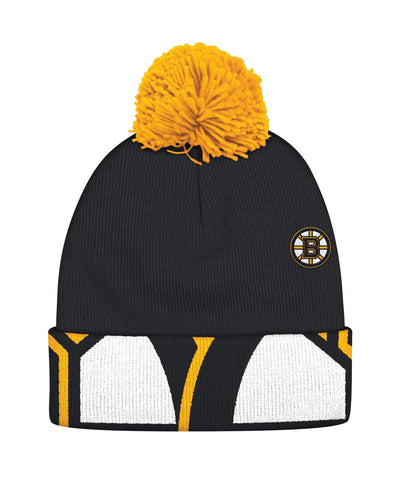 REEBOK BOSTON BRUINS OVERSIZE LOGO CUFFED POM SR TOQUE
