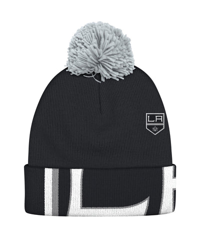 REEBOK LOS ANGELES KINGS OVERSIZE LOGO CUFFED POM SR TOQUE