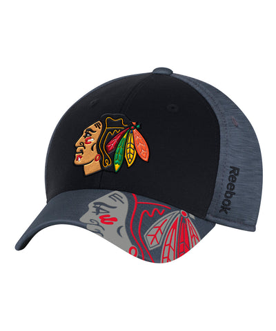 REEBOK CHICAGO BLACKHAWKS PLAYOFF 2017 SR CAP