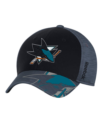 REEBOK SAN JOSE SHARKS PLAYOFF 2017 SR CAP