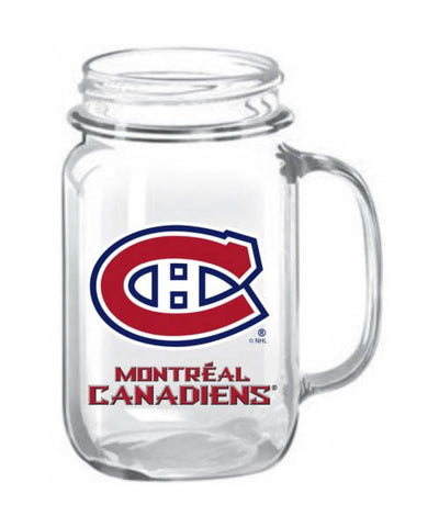 MONTREAL CANADIENS 16OZ MASON JAR