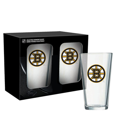 BOSTON BRUINS 2PK 16oz MIXING GLASS SET