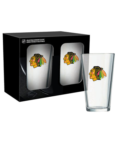 CHICAGO BLACKHAWKS 2PK 16oz MIXING GLASS SET