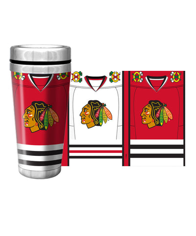 CHICAGO BLACKHAWKS 16oz JERSEY TRAVEL MUG