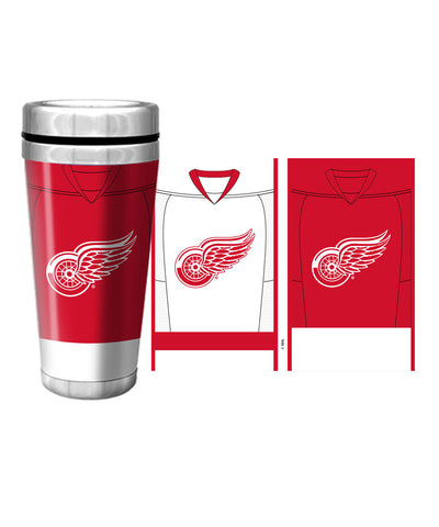 DETROIT RED WINGS 16oz JERSEY TRAVEL MUG
