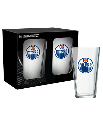 EDMONTON OILERS 2PK 16oz MIXING GLASS SET