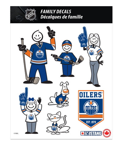 EDMONTON OILERS 8X11 FAMILY DECAL SET