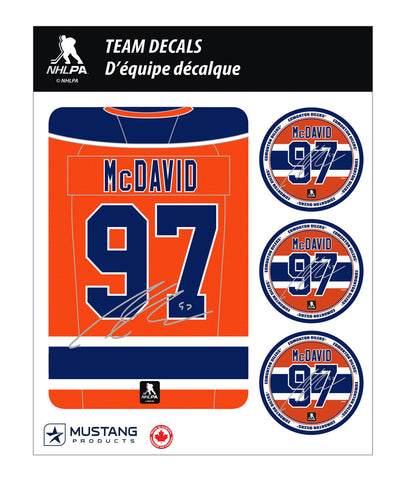CONNOR MCDAVID 5X7 PLAYER DECAL