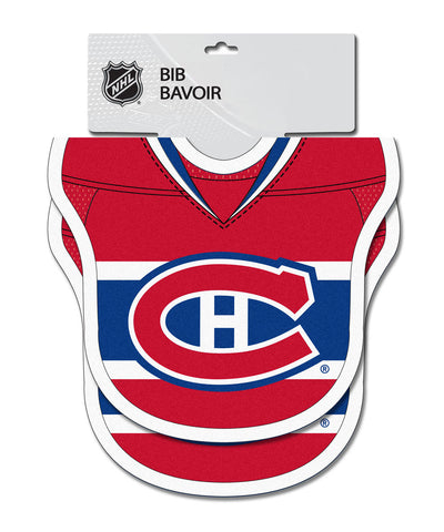 OLD TIME HOCKEY MONTREAL CANADIENS 2PK JERSEY BABY BIBS