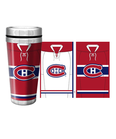 MONTREAL CANADIENS 16oz JERSEY TRAVEL MUG