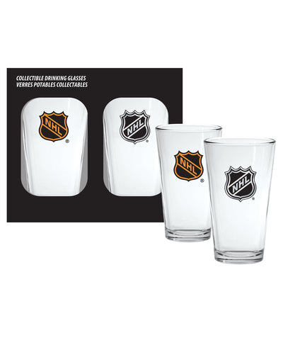 NATIONAL HOCKEY LEAGUE 2PK 16OZ MIXING GLASS SET