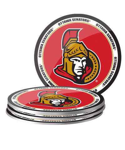 OTTAWA SENATORS 4PK PVC COASTER SET
