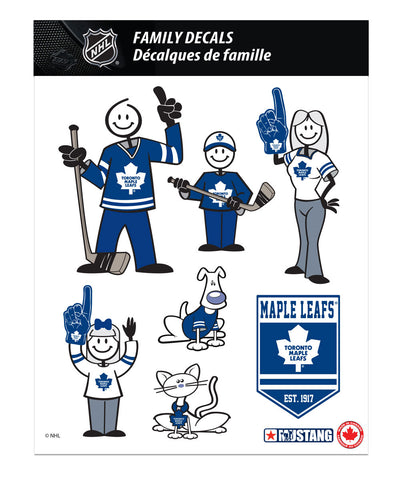 TORONTO MAPLE LEAFS 8X11 FAMILY DECAL SET
