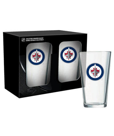 WINNIPEG JETS 2PK 16oz MIXING GLASS SET