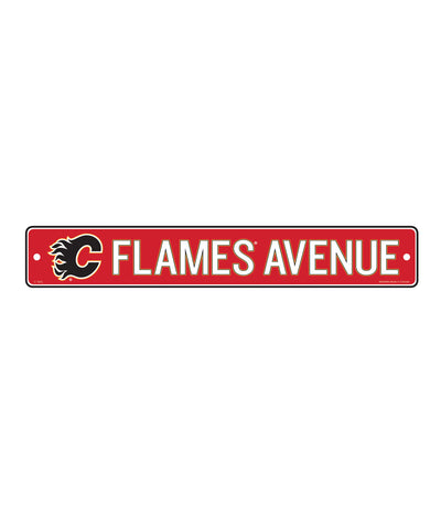 THE SPORTS VAULT CALGARY FLAMES STANDARD STREET SIGN
