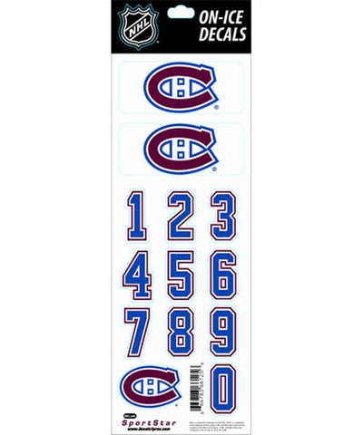 NHL MONTREAL CANADIENS HOCKEY HELMET STICKERS