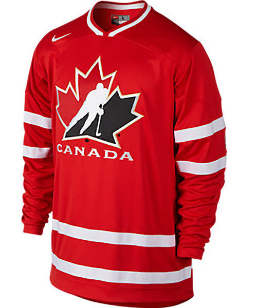 finest selection 7269d d80f2 NIKE HOCKEY CANADA JR RED JERSEY