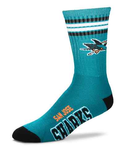 G-III SAN JOSE SHARKS 4 STRIPE DEUCE MEN'S SOCKS