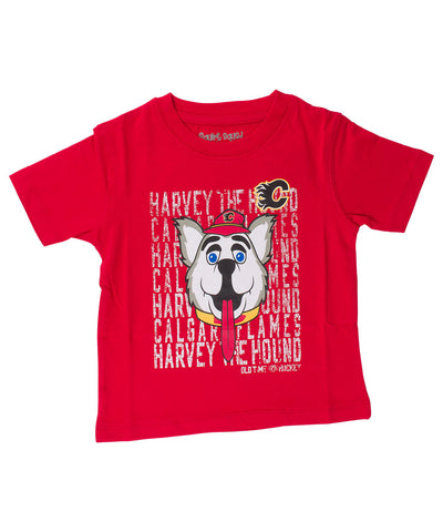 OLD TIME HOCKEY CALGARY FLAMES DAFTER MASCOT KIDS SHIRT