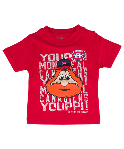 OLD TIME HOCKEY MONTREAL CANADIENS DAFTER MASCOT KIDS SHIRT