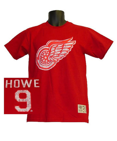 OLD TIME RED WINGS HOWE #9 SR T-SHIRT