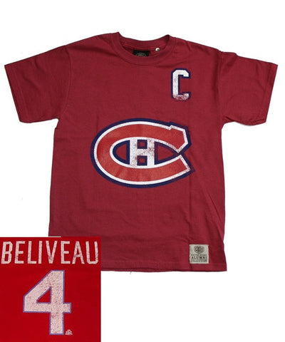 OLD TIME CANADIENS BELIVEAU #4 SR T-SHIRT