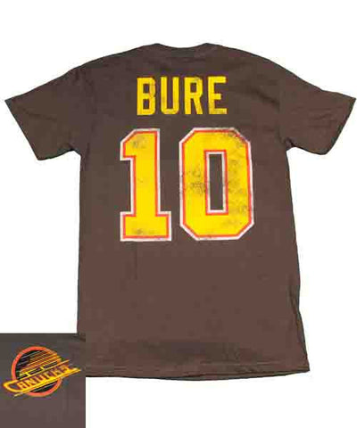 OLD TIME CANUCKS BURE #10 SR T-SHIRT
