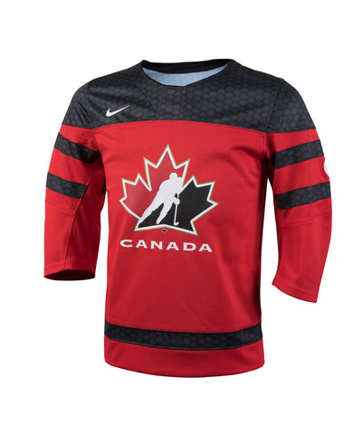 NIKE TEAM CANADA 2016 TWILL HOCKEY RED JR JERSEY