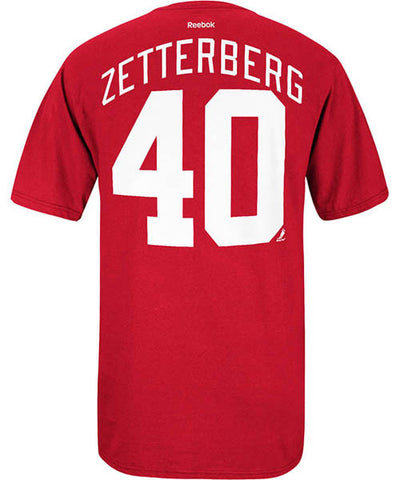 REEBOK DETROIT RED WINGS ZETTERBERG #40 SR T-SHIRT