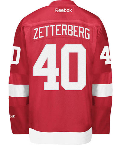 REEBOK DETROIT RED WINGS ZETTERBERG #40 SR HOME JERSEY