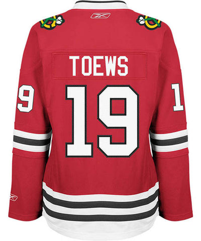 REEBOK CHICAGO BLACKHAWKS JONATHAN TOEWS WOMEN'S HOME JERSEY