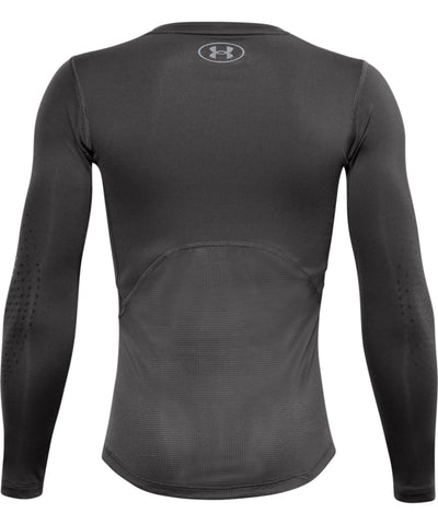 UNDER ARMOUR KID'S HOCKEY LONG SLEEVE FITTED GRIPPY TOP - BLACK