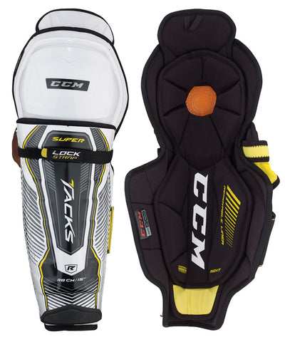 CCM SUPER TACKS SENIOR HOCKEY SHIN GUARDS
