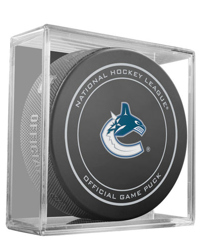 SHER-WOOD VANCOUVER CANUCKS OFFICIAL NHL GAME PUCK