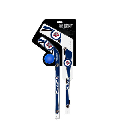SHER-WOOD WINNIPEG JETS BREAKAWAY MINI STICK SET