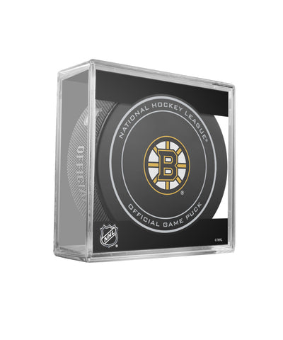 SHER-WOOD BOSTON BRUINS OFFICIAL NHL GAME PUCK