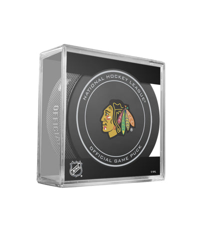 SHER-WOOD CHICAGO BLACKHAWKS OFFICIAL NHL GAME PUCK