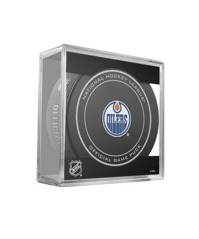 EDMONTON OILERS OFFICIAL GAME PUCK