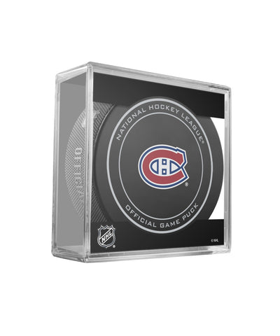 SHER-WOOD MONTREAL CANADIENS OFFICIAL NHL GAME PUCK