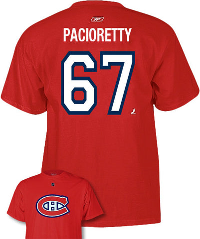 REEBOK MONTREAL CANADIENS PACIORETTY #67 SR T-SHIRT