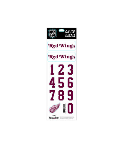 DETROIT RED WINGS NHL HELMET DECALS