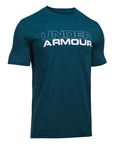 UNDER ARMOUR SR COTTON WORDMARK SS T-SHIRT MEDIUM NAVY