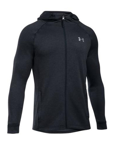 UNDER ARMOUR SR TECH TERRY FITTED FZ HOODIE BLACK
