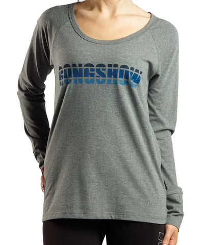 GONGSHOW PATROL THE BLUE WOMEN'S LS SHIRT