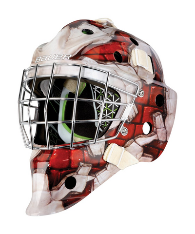 BAUER NME 4 YOUTH GOALIE MASK WALL RED