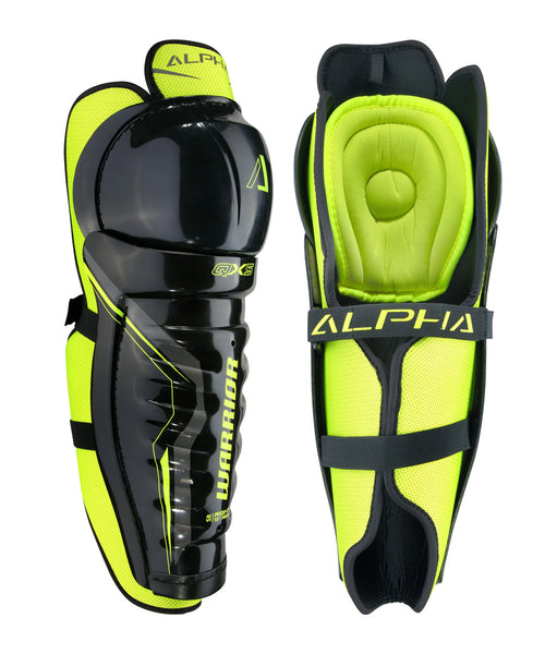 WARRIOR ALPHA QX5 JR HOCKEY SHIN GUARDS